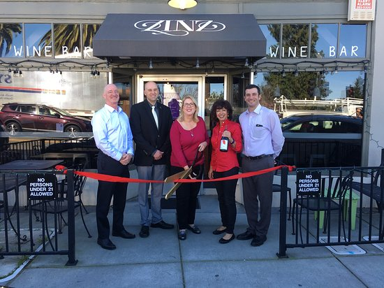 Ribbon cutting.  New ownership accepted by the city of Corte Madera.