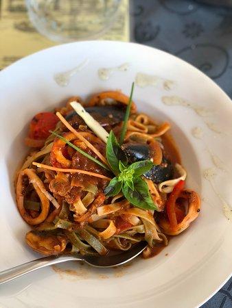 Prizba, Croatia: Pasta met zeevruchten