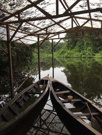 Madre de Dios Region, Peru: Boats on Cocha Lobo