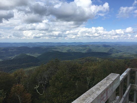 Elkins, WV: View from Bickle Knob observation tower