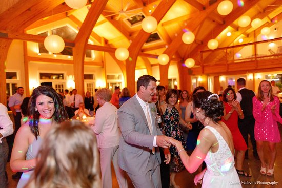 Oliverea, NY: A loving couple dancing the night away in our all-new wedding pavilion. (Photo by Yannis Malevit