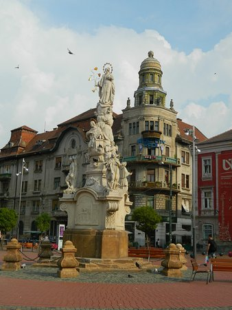 Libertatii Square: St, Mary Statue in Liberty Square of Timisoara