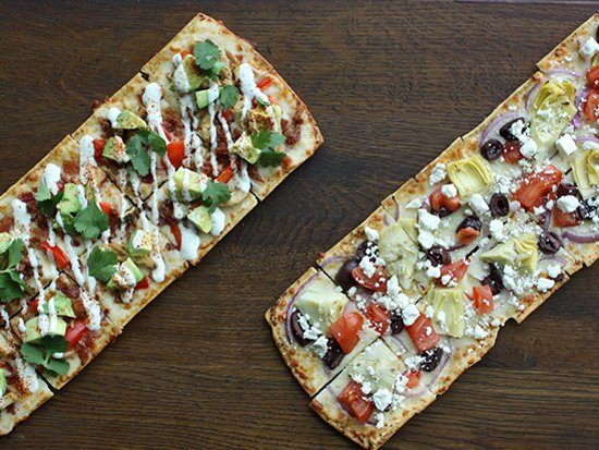 Belgrade, MT: California Chicken & Greek flatbreads