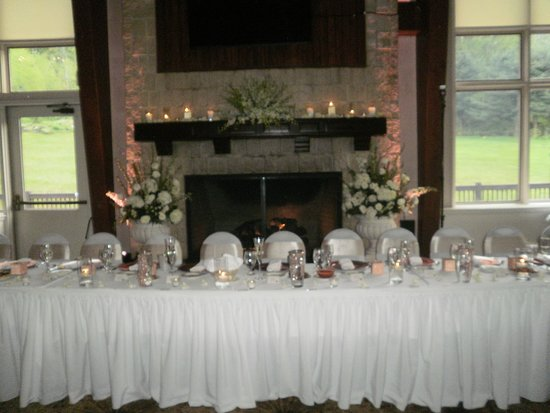 Clymer, NY: Wedding party's table at The Retreat