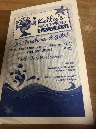 Kelly's Seafood: Menu