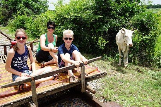 Battambang Province, Cambodia: Bamboo Train (Flying bed).....