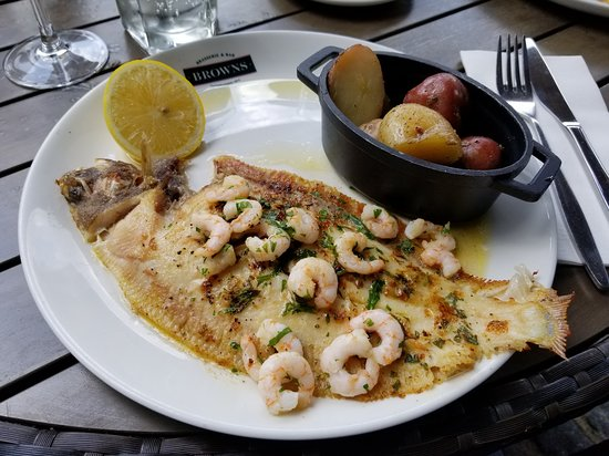 Browns Brasserie & Bar - West India Quay: Sole with lemon butter - daily special