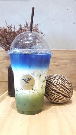 Lisa Lamo: Butterfly Pea With Green Tea 80 Baht
