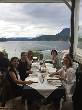 The Laughing Oyster! Amazing dinner and private charters into Desolation Sound.
