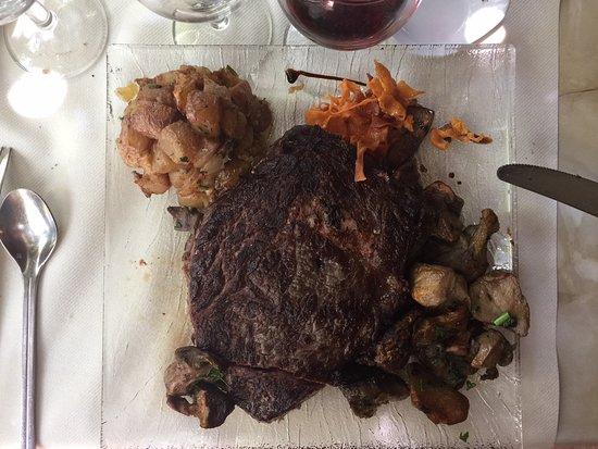 Montgeard, França: l'entrecôte, très bonne cuisson !