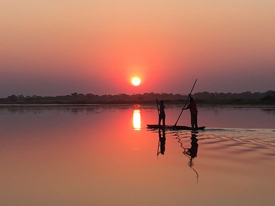 Katima Mulilo, Namibië: Sunset on the lagoon