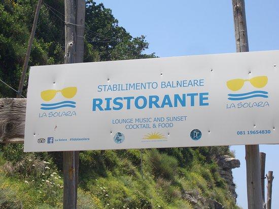 Ristorante La Solara: Snart ser vi restauranten