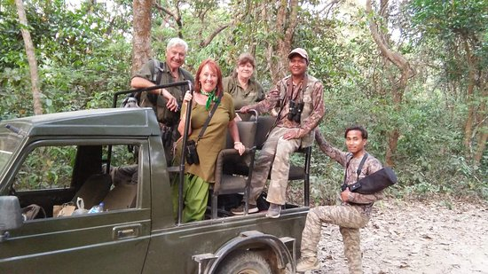 Bardia National Park, Nepal: Returning after a successful safari- a great time was had by all.