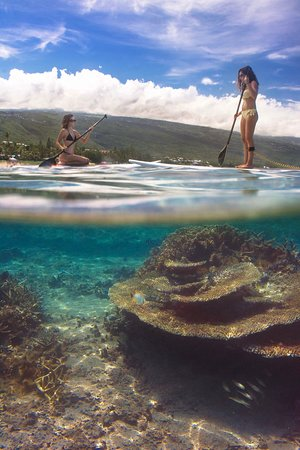 La Saline les Bains, Ile de La Réunion: location de paddle à la plage de Petit Trou d'Eau