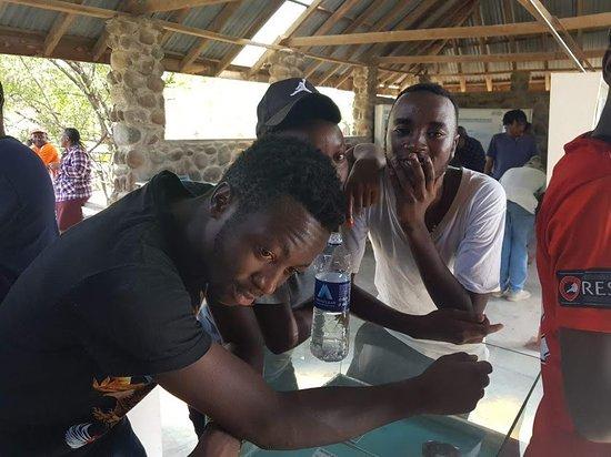 Magadi, Kenya: at the exhibitions