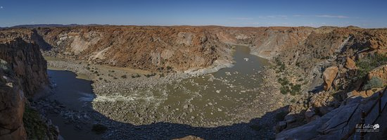 Augrabies Falls National Park, South Africa: View over the Orane River from Oranje Kom.