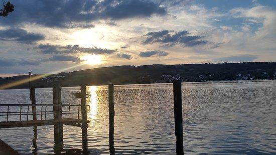 Steckborn, Schweiz: coucher de soleil