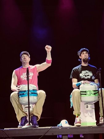 Buckets N Boards Comedy Percussion Show: These guys drum on any and everything!