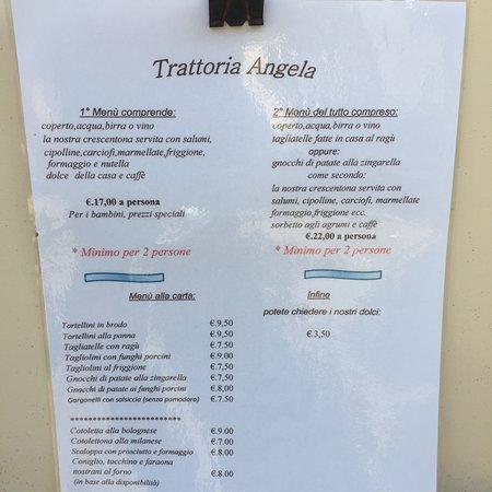 Tonelli Design Listino Prezzi.Menu E Listino Prezzi Picture Of Osteria Da Angela Loiano