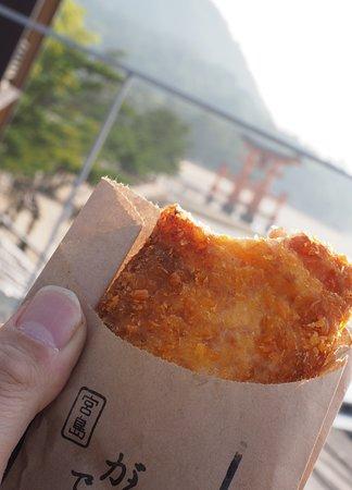 宮島でがんす Miyajima De-gansu deep-fried minced fish inside