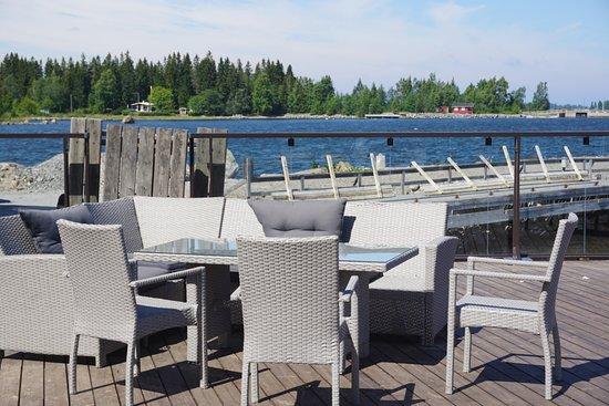 West-Finnland, Finnland: The summer terrace