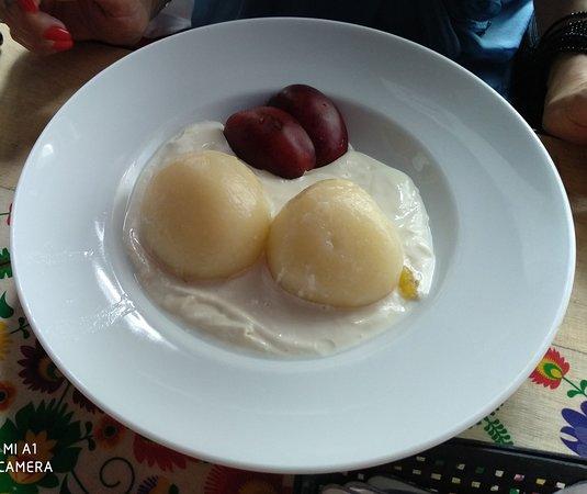 Knedle Z Truskawka Strawberry Stuffed Dumplings Picture