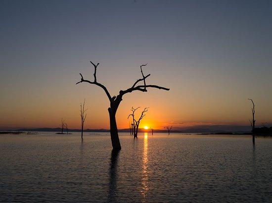 Lake Kariba, Zimbabwe: Sonnenuntergang
