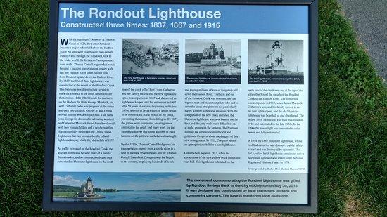 Rondout Lighthouse: Descriptive sign