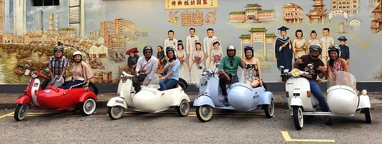 Mural Hunting on Sidecars! - Picture of Sideways Sg, Singapore