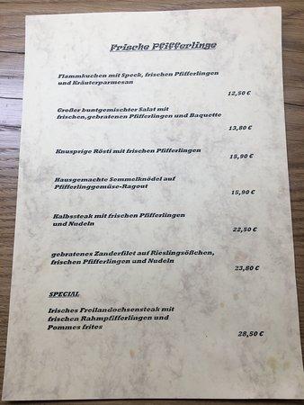 Sasbach, Allemagne : Unsere Pfifferlingvariationen