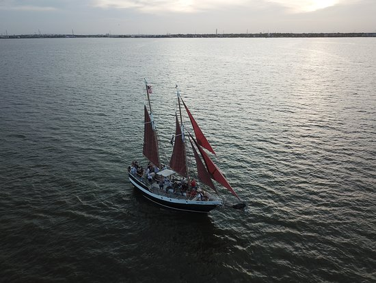 Seabrook, TX: July 4, 2018 Capt Kidd fireworks cruise on Galveston Bay