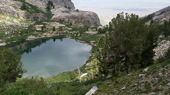 Lamoille, NV: Griswold Lake from the trail to Ruby Dome.
