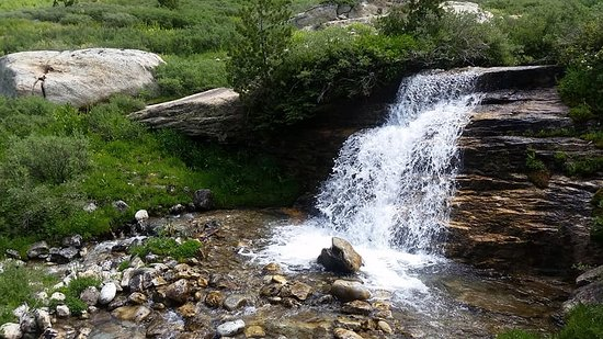 Lamoille, NV: One of the many waterfalls in the area. This one is in Right Fork Canyon.