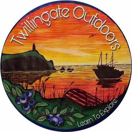 Twillingate, Kanada: Logo painted by local artist.