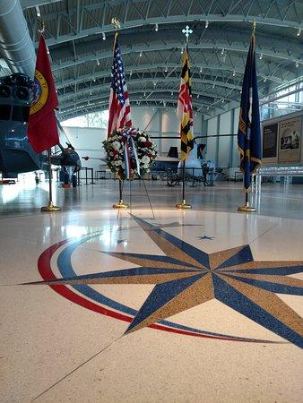 Lexington Park, MD: Memorial Day display inside the front door of the Pax Museum