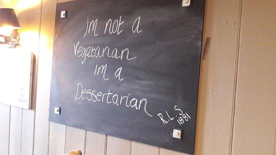 Hawes Inn Restaurant: Funny message