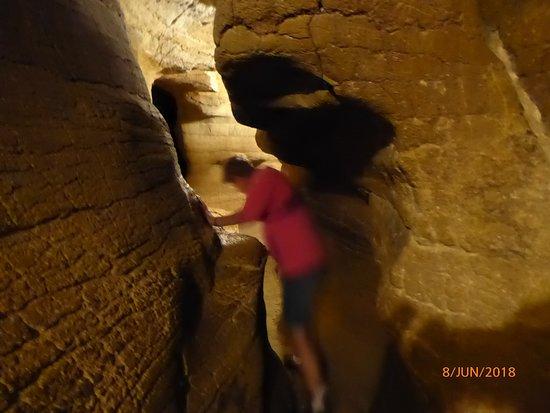La Balme-les-Grottes, Frankreich: even wringen. het wordt nog smaller later