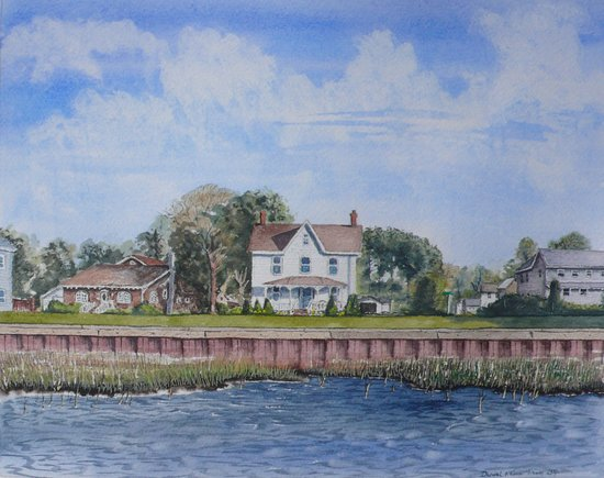 Chincoteague Island, VA: Watercolor of the gallery