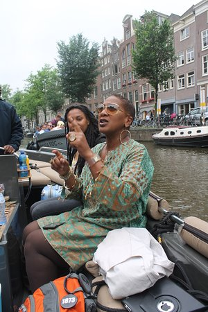 Black Heritage and Colonial History Boat Tour (Spring schedule): on the boat tour! She has a great boat and a great boat operator lucien, dynamic duo!