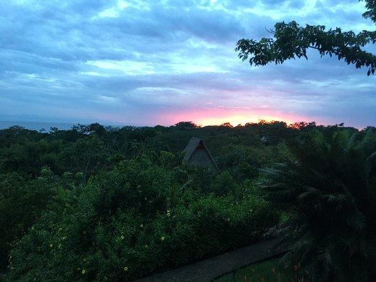 Manzanillo, Costa Rica: coucher du soleil depuis la chambre