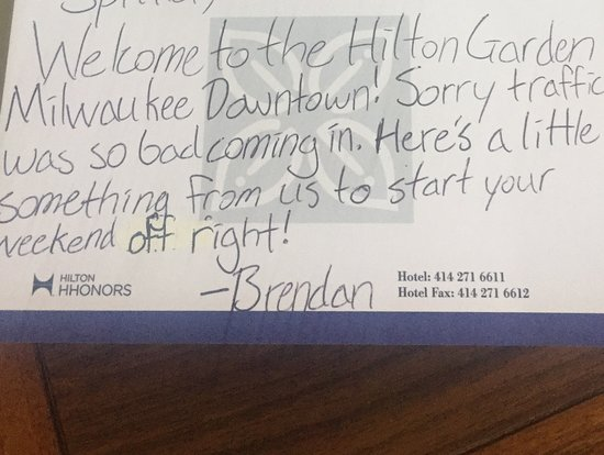 Hilton Garden Inn Milwaukee Downtown: This is customer service!
