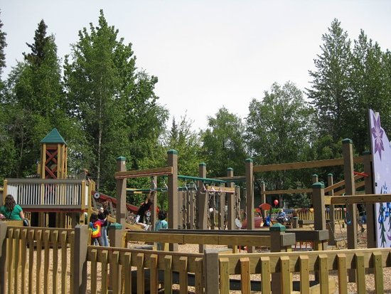 Soldotna, AK: A great park with a family friendly boardwalk along the Kenai River.
