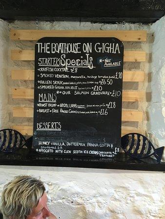 Isle of Gigha, UK: 2nd blackboard