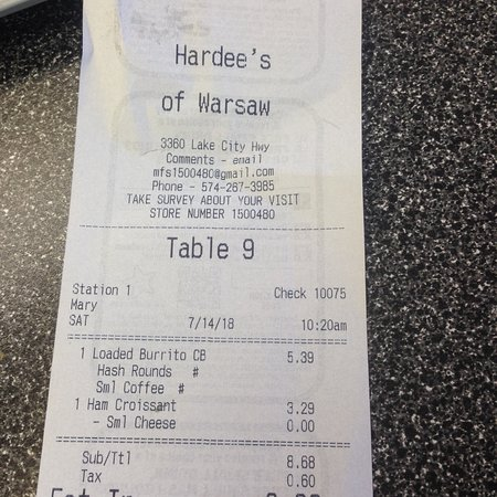 Hardee's, Warsaw - Restaurant Reviews, Photos & Phone Number