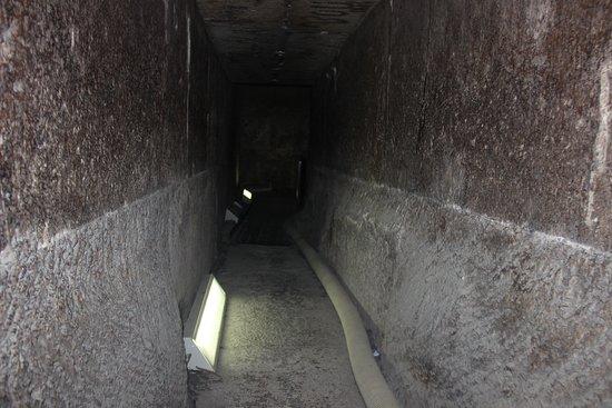 North Pyramid (Piramide Roja): passage way to the burial chamber