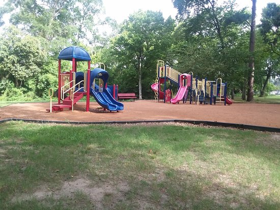 Lufkin, TX: One of the several playground areas at Kiwanis Park