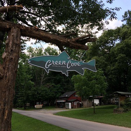 Cherokee National Forest: Green Cove sign