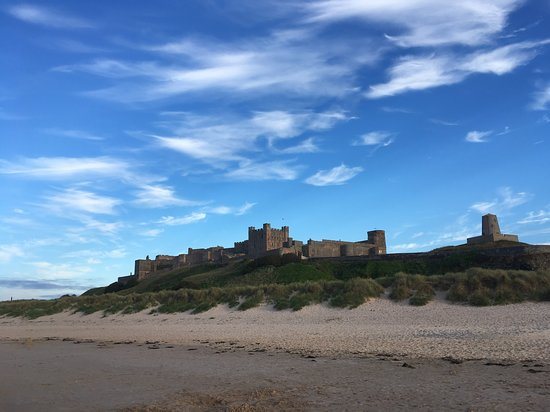 Budle Hall: Bamburgh Castle from the beach