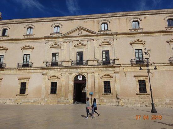 Syracuse, Italy: Palazzo Arcivescovile from Piazza Duomo