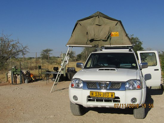 Windhoek, Namibia: Roof tent Set Up